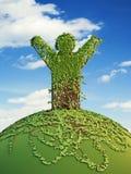mężczyzna planety symboliczny drzewo Zdjęcia Stock