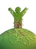 mężczyzna planety symboliczny drzewo Fotografia Stock