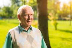 mężczyzna plenerowy stary Obraz Royalty Free