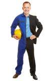 Mężczyzna połówka jako pracownik i business manager Zdjęcie Stock