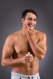 Mężczyzna po brać prysznic w pojęciu Zdjęcie Royalty Free