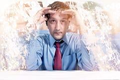 Mężczyzna pod stresem Zdjęcia Royalty Free