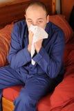 mężczyzna podmuchowy nos Zdjęcie Stock
