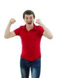 Mężczyzna pokazuje radość Zdjęcie Stock