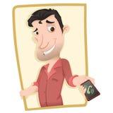Mężczyzna pokazuje smartphone Obrazy Stock