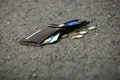 Mężczyzna portfel fotografia stock