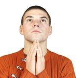 mężczyzna portreta modlitwa Obrazy Royalty Free