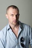 mężczyzna portreta poważni potomstwa Fotografia Royalty Free