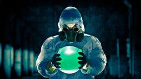 mężczyzna portreta respirator Fotografia Royalty Free