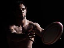 mężczyzna portreta rugby seksowny toples zdjęcie stock