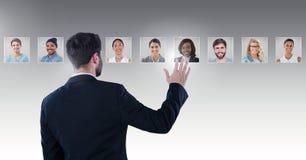 Mężczyzna portreta wzruszający profile różni ludzie obraz stock