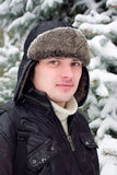 mężczyzna portreta zima potomstwa Fotografia Stock