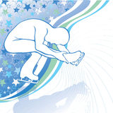 Mężczyzna postaci łyżwy. Projekta szablon z gwiazdy backg Ilustracja Wektor