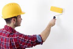 Mężczyzna pracujący obraz Obraz Stock