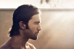 Mężczyzna profil obrazy royalty free