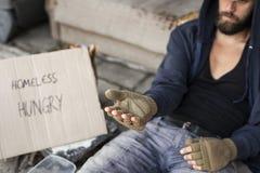 mężczyzna proszałny bezdomny pieniądze zdjęcie royalty free