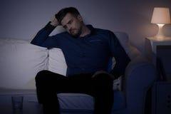 Mężczyzna przechodzi midlife kryzys Fotografia Royalty Free