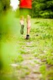 Mężczyzna przecinającego kraju bieg na śladzie Obraz Stock