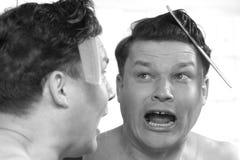 Mężczyzna przerażający fryzury zdjęcia stock