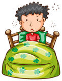 Mężczyzna przy łóżkiem Fotografia Royalty Free