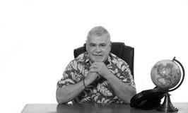 Mężczyzna przy biurkiem Obraz Stock