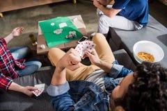 Mężczyzna przy hazardu stołem Fotografia Stock