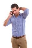 Mężczyzna przy telefonem fotografia royalty free