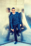 Mężczyzna Przypadkowa moda w Nowy Jork Obraz Royalty Free