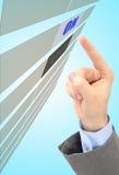 Mężczyzna ręka naciska guzika Obraz Stock