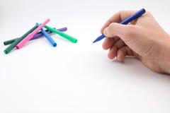 Mężczyzna ręka, przygotowywająca rysować obrazek Obraz Stock