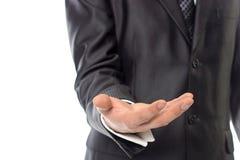 Mężczyzna ręka trzyma imaginacyjnego przedmiot Zdjęcie Stock