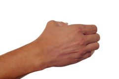 Mężczyzna ręki mienie coś Obraz Royalty Free