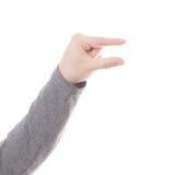 Mężczyzna ręki znak odizolowywający Fotografia Royalty Free