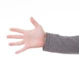 Mężczyzna ręki znak odizolowywający Zdjęcia Royalty Free