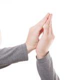 Mężczyzna ręki znak odizolowywający Obrazy Royalty Free