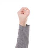 Mężczyzna ręki znak odizolowywający Zdjęcia Stock