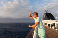 Mężczyzna rejsu wakacje Zdjęcia Stock
