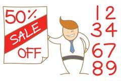 Mężczyzna reklamowa cena sprzedaży Fotografia Stock