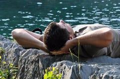 mężczyzna relaksuje Obrazy Stock