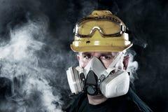 mężczyzna respiratoru target3355_0_ Fotografia Stock