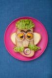 Mężczyzna robić chleb i warzywa Zdjęcie Stock