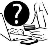 Mężczyzna robi online zakupowi ilustracji