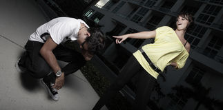 mężczyzna roześmiana kobieta Zdjęcie Royalty Free