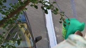 Mężczyzna rysunku paski dla parkować zbiory