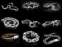 Mężczyzna ` s bransoletki - set Obraz Stock