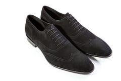 Mężczyzna ` s buty na białym tle Zdjęcia Royalty Free