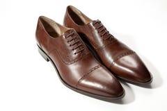 Mężczyzna ` s buty na białym tle Obrazy Stock