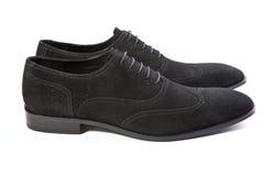 Mężczyzna ` s buty na białym tle Zdjęcia Stock