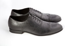 Mężczyzna ` s buty na białym tle Obraz Royalty Free