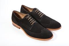 Mężczyzna ` s buty na białym tle Fotografia Stock